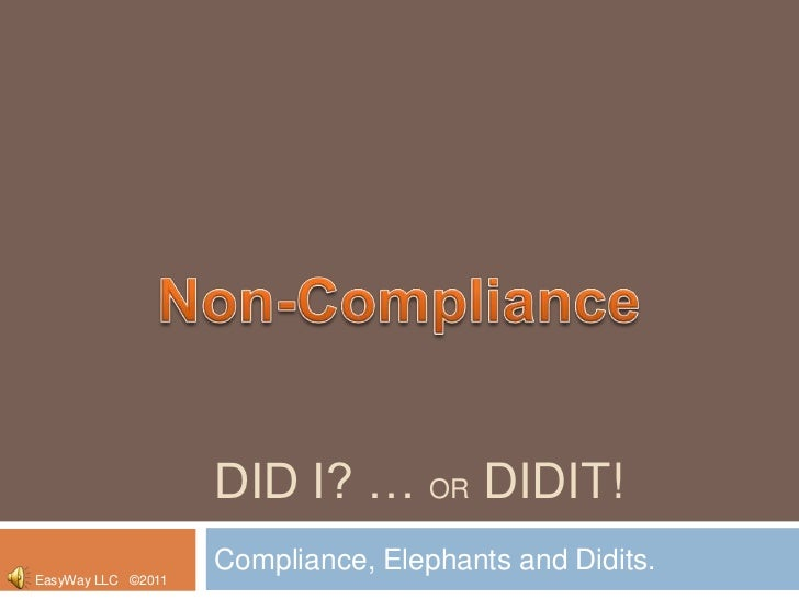 Didit - Compliance and the new tool!