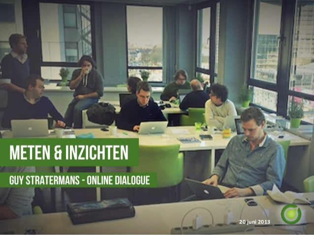 Dialogue Donderdag 13: presentatie Guy Stratermans: Online Dialogue Labs