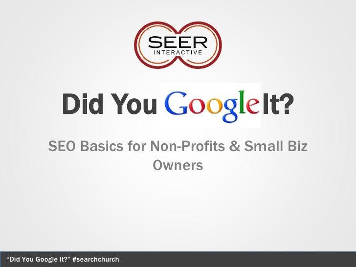Did You Google It? Presentation