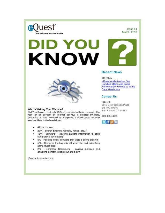 """eQuest's Big Data for HR - """"Did you know? - #4 - 5 Fastest Rising Countries for Online Recruitment"""""""