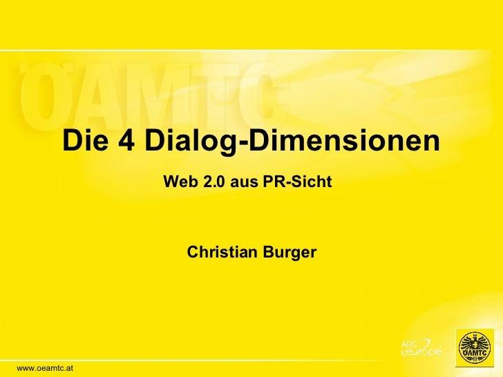 Die 4 Dialog-Dimensionen. Web 2.0 aus PR-Sicht.