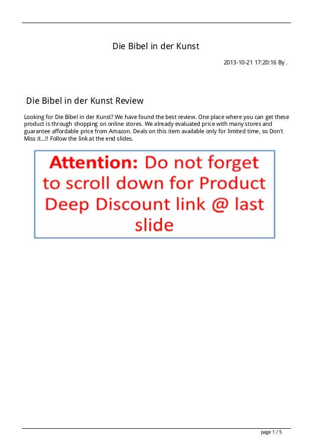 Die Bibel in der Kunst 2013-10-21 17:20:16 By .  Die Bibel in der Kunst Review Looking for Die Bibel in der Kunst? We have...
