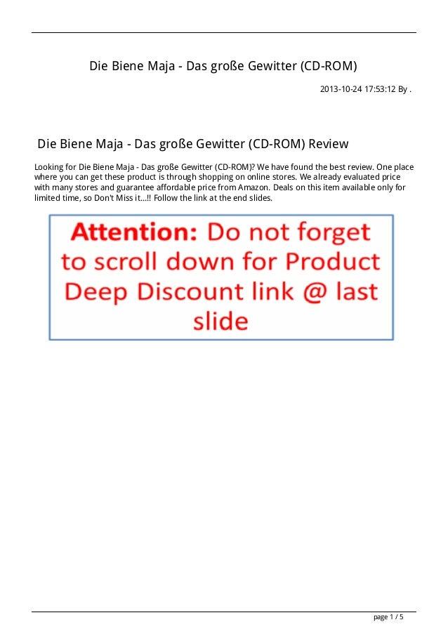 Die Biene Maja - Das große Gewitter (CD-ROM) 2013-10-24 17:53:12 By .  Die Biene Maja - Das große Gewitter (CD-ROM) Review...