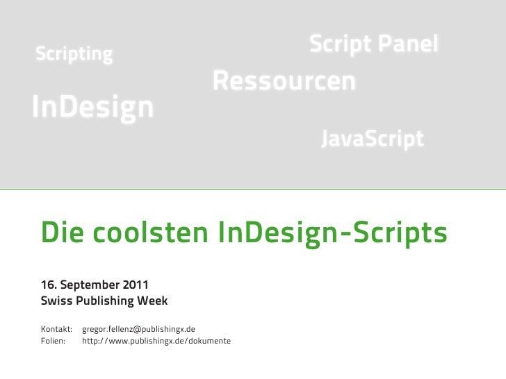 Scripting                                        Script Panel                                         RessourcenInDesign  ...