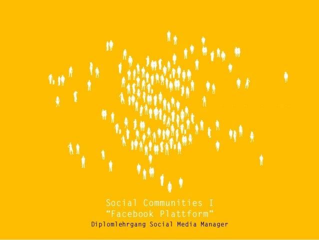 Diplomlehrgang Social Media Manager - Facebook Plattform