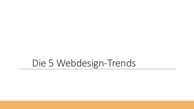 Die 5 Webdesign-Trends