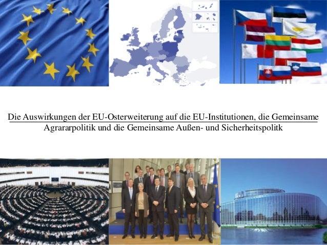 1 Die Auswirkungen der EU-Osterweiterung auf die EU-Institutionen, die Gemeinsame Agrararpolitik und die Gemeinsame Außen-...