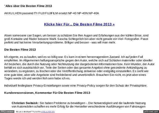 """Alles über Die Besten Filme 2013  AKKU LI-ION passend f?r FUJI FUJIFILM ersetzt NP-40 NP-40N NP-40A                      ..."