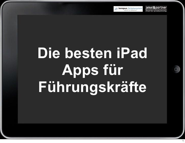 Die besten iPad   Apps fürFührungskräfte                  1