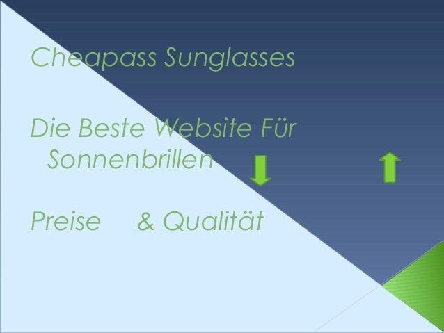 Cheapass Sunglasses Die Beste Website Für Sonnenbrillen Preise & Qualität