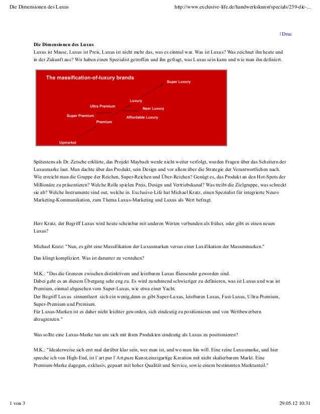 Die Dimensionen des Luxus                                                      http://www.exclusive-life.de/handwerkskunst...