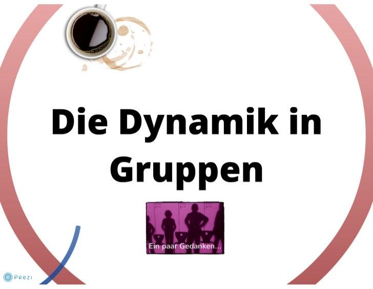 Die Dynamik in Gruppen