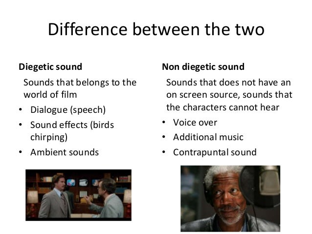 difference between diegetic and non diegetic sound discuss Nathan bryon  482 likes 1 can you tell the difference between diegetic and non-diegetic sound film composers and directors who will discuss the different.