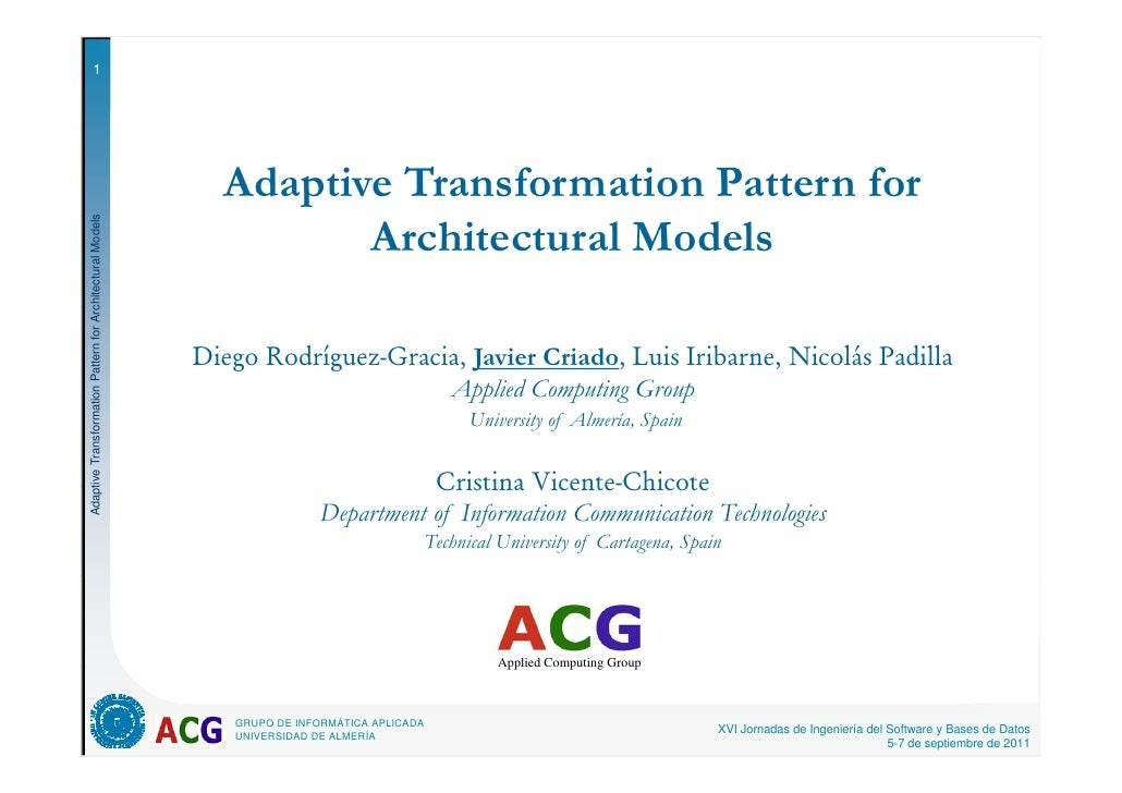 1                                                            Adaptive Transformation Pattern for                          ...