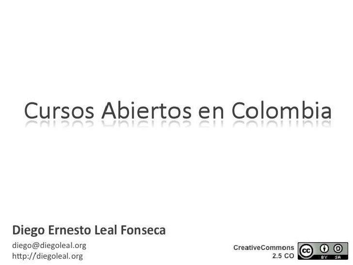 Cursos abiertos en Colombia