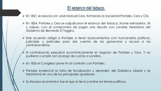 Resultado de imagen para contrato del Estanco diego portales