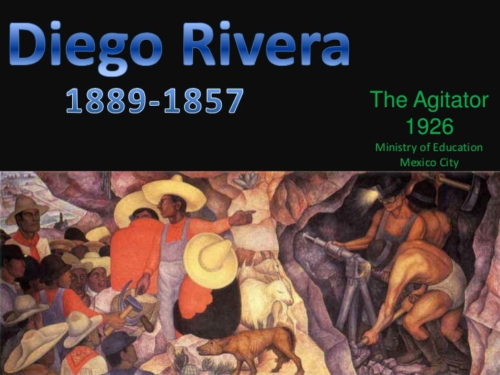 Diego Rivera <br />1889-1857<br />The Agitator<br />1926<br />Ministry of Education<br />Mexico City<br />