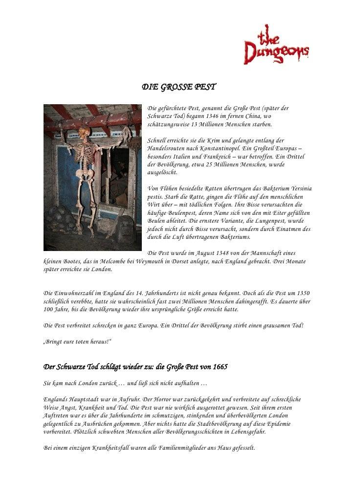 Die Grosse Pest - Hamburg Dungeon