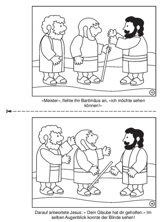 Die Heilung Des Blinden Bartim 228 Us Malbuch