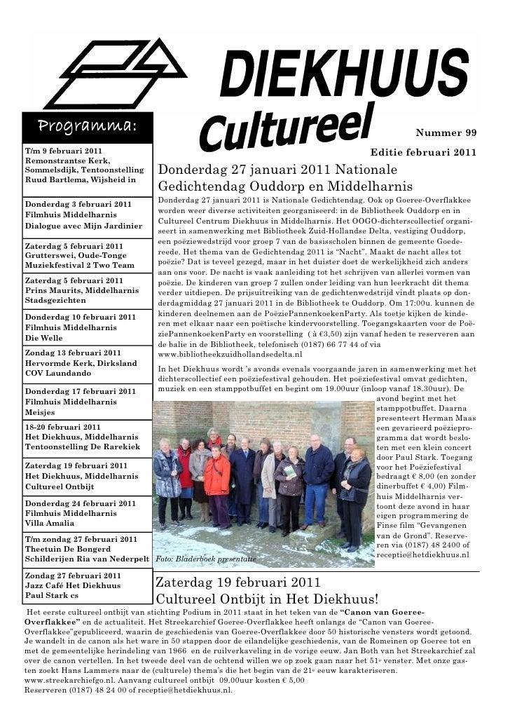 Diekhuus Cultureel Februari 2011 Webversie