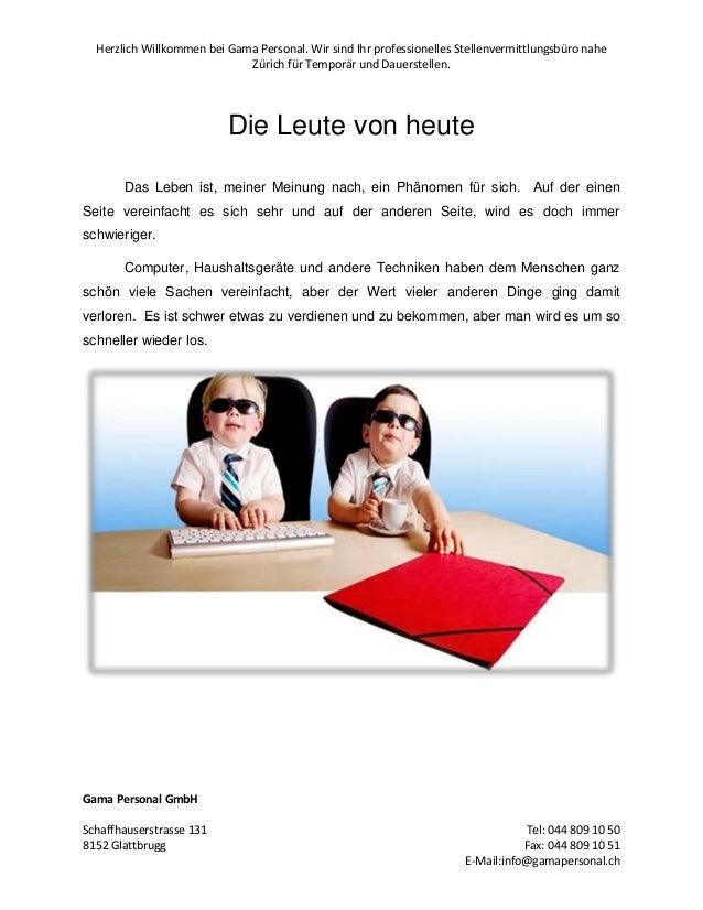Herzlich Willkommen bei Gama Personal. Wir sind Ihr professionelles Stellenvermittlungsbüro nahe Zürich für Temporär und D...