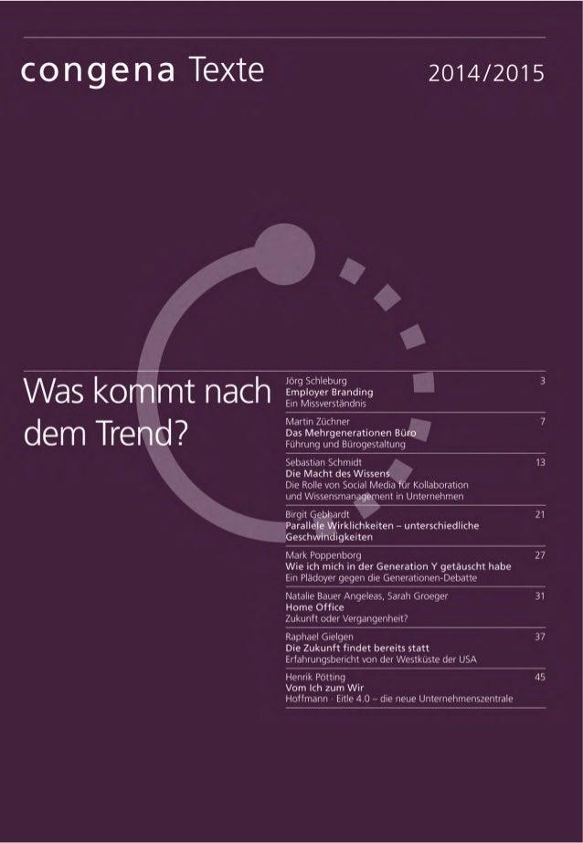 13Sebastian Schmidt congena Texte Mit dem Begriff »Enterprise 2.0« um- schrieb Andrew McAffee bereits 2006 die durch Socia...