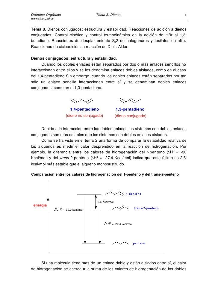 Química Orgánica                          Tema 8. Dienos                                 1 www.sinorg.uji.es   Tema 8. Die...
