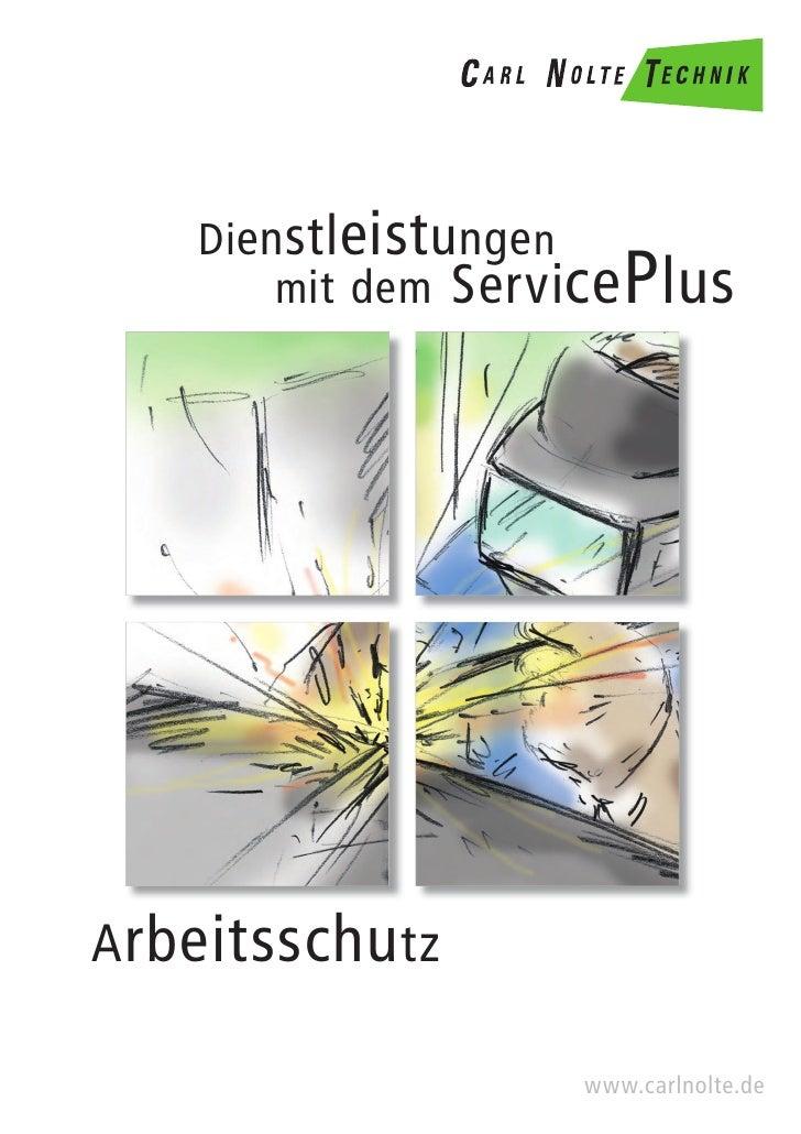 Arbeitsschutz - Dienstleistungen mit dem ServicePlus