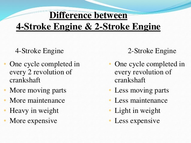 What Is the Difference Between a 4-Stroke and 2-Stroke Engine?