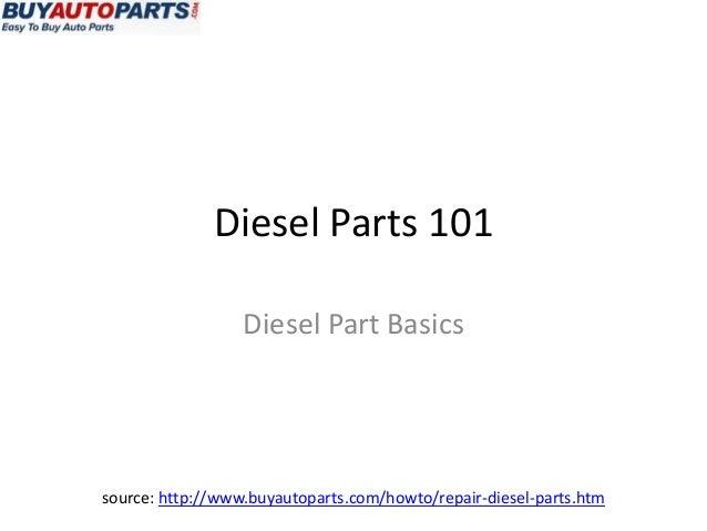 Diesel Parts 101