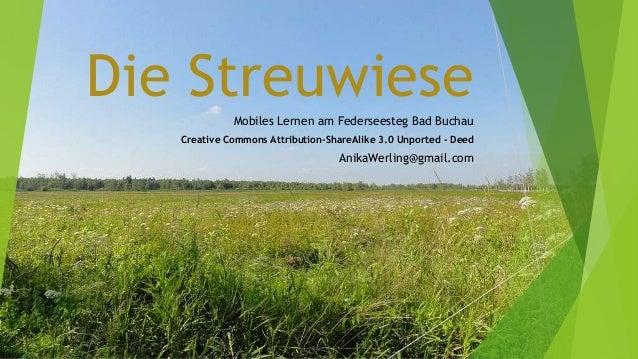 Die StreuwieseMobiles Lernen am Federseesteg Bad BuchauCreative Commons Attribution-ShareAlike 3.0 Unported - DeedAnikaWer...