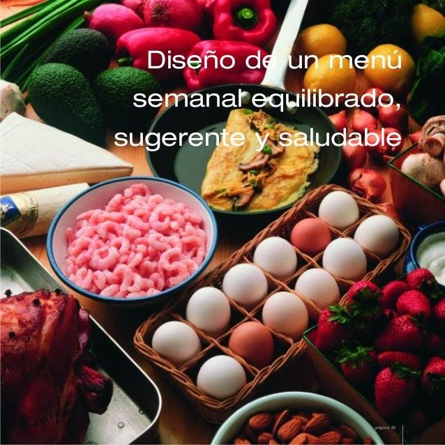 Diseño de un menúsemanal equilibrado,sugerente y saludablepágina 25