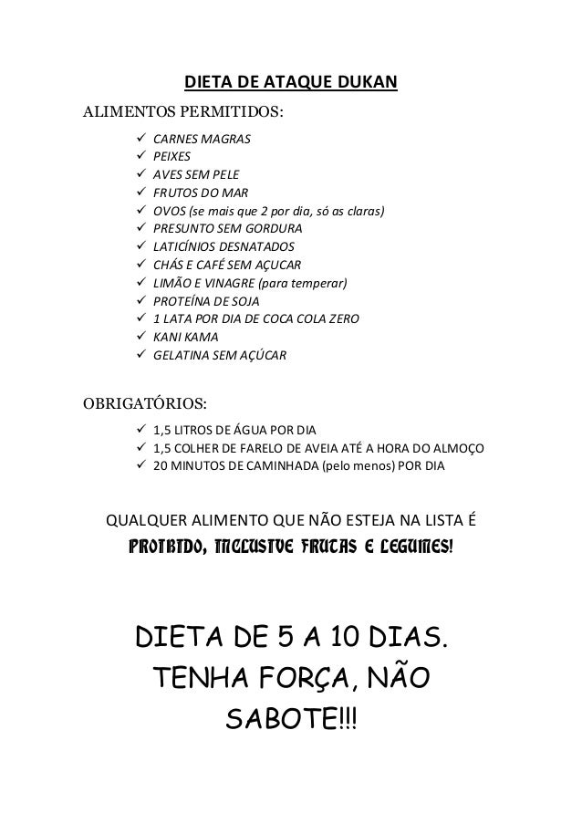 Dieta de ataque dukan - Dieta dukan alimentos prohibidos ...