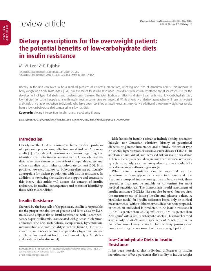 Dieta hiperproteica para obeso com resistência à insulina