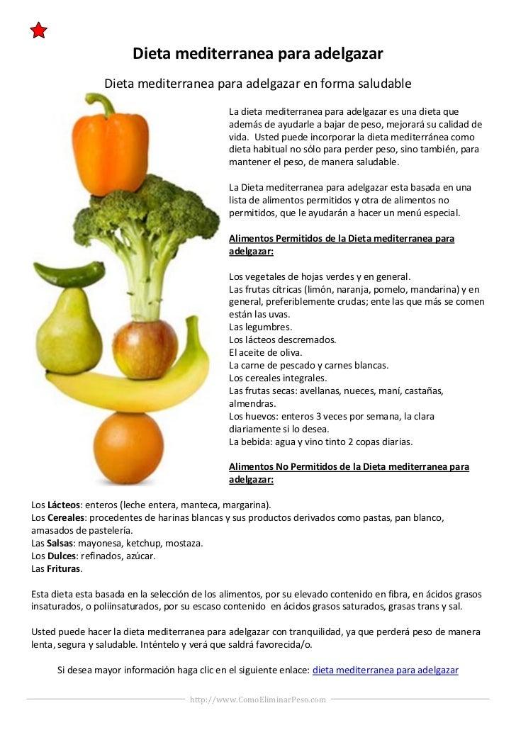 dieta mediterranea estiva