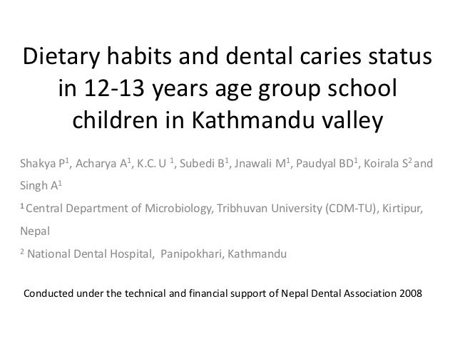Dietary habits and dental caries status in 12 13