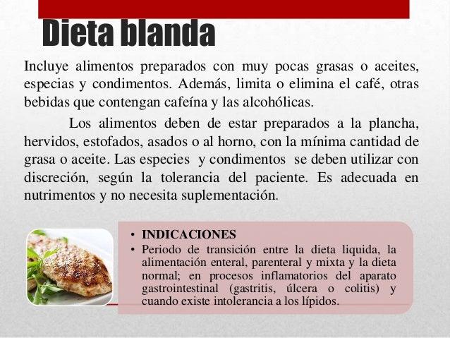 Dietas hospitalarias - Alimentos de una dieta blanda ...
