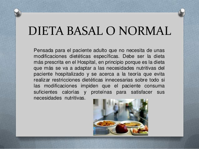 Dieta Normal o Basal - Ensayos - Jdchamputis - Dieta Basal