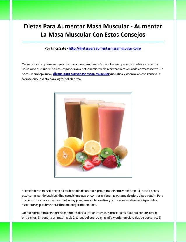 Dietas Para Aumentar Masa Muscular - AumentarLa Masa Muscular Con Estos Consejos__________________________________________...
