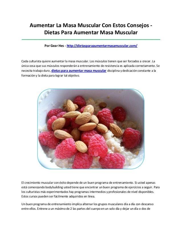 Aumentar La Masa Muscular Con Estos Consejos -Dietas Para Aumentar Masa Muscular__________________________________________...