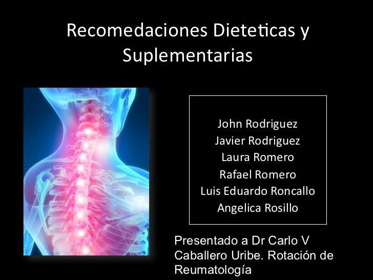 Dieta y enfermedades reumáticas