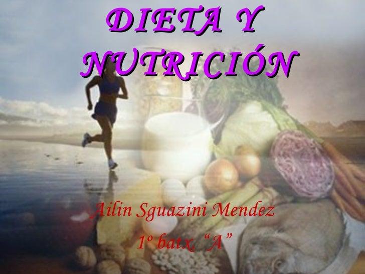 La nutrición y la alimentación