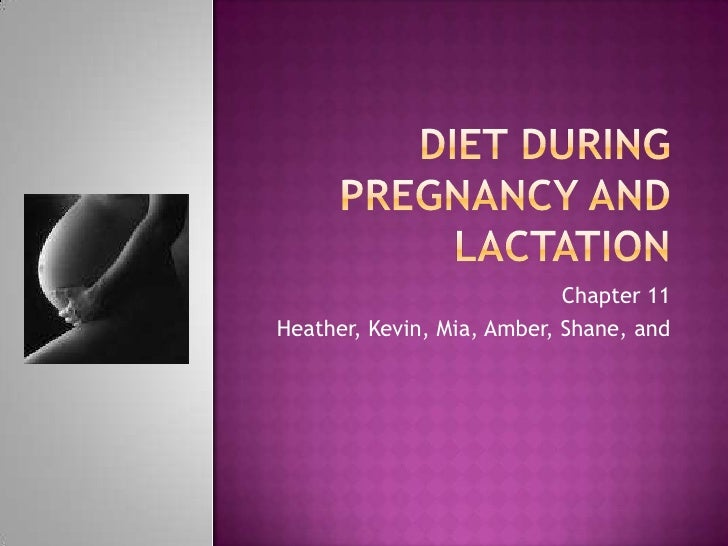 Diet during pregnancy and lactation<br />Chapter 11<br />Heather, Kevin, Mia, Amber, Shane, and <br />