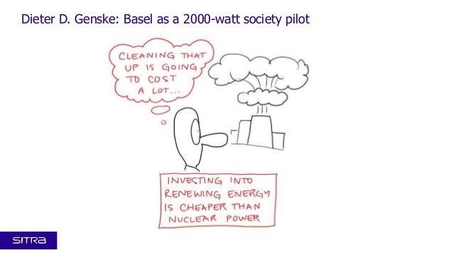 Kansallinen resurssiviisaus -foorumi 4.12.2013: Visualistin näkemys Dieter D. Gensken esityksestä Basel as a 2000-watt society pilot
