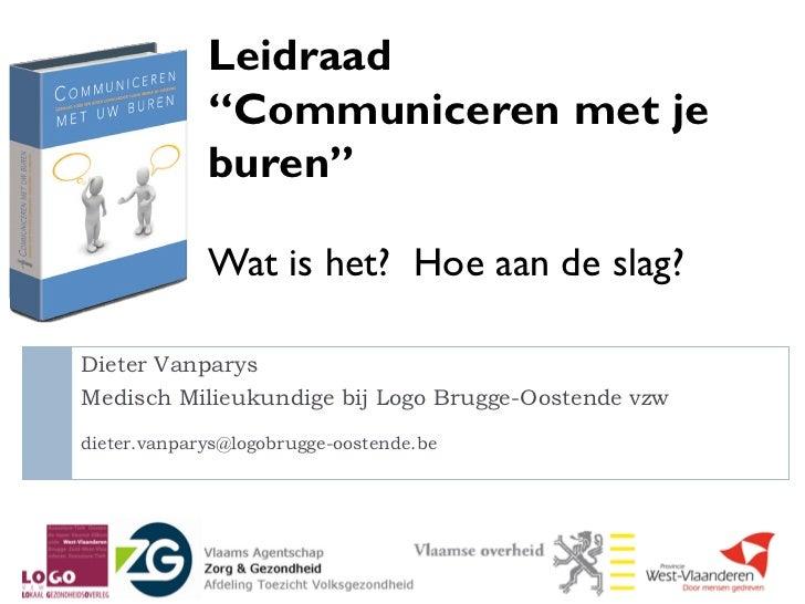Dieter vanparys leidraad-communiceren_wat_en_hoe_18092012