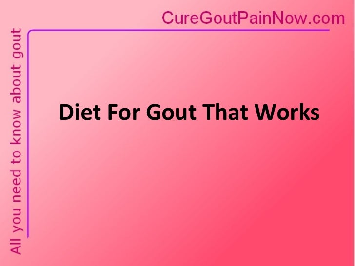 Diet For Gout That Works