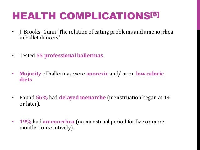 Dieting complications