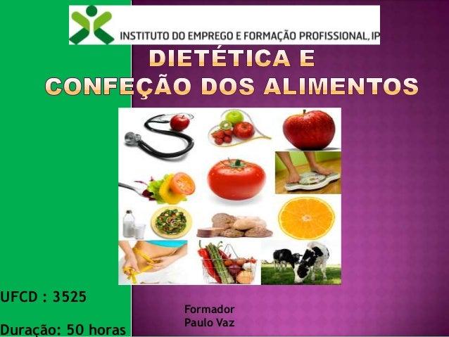 Dietética e confecção de alimentos