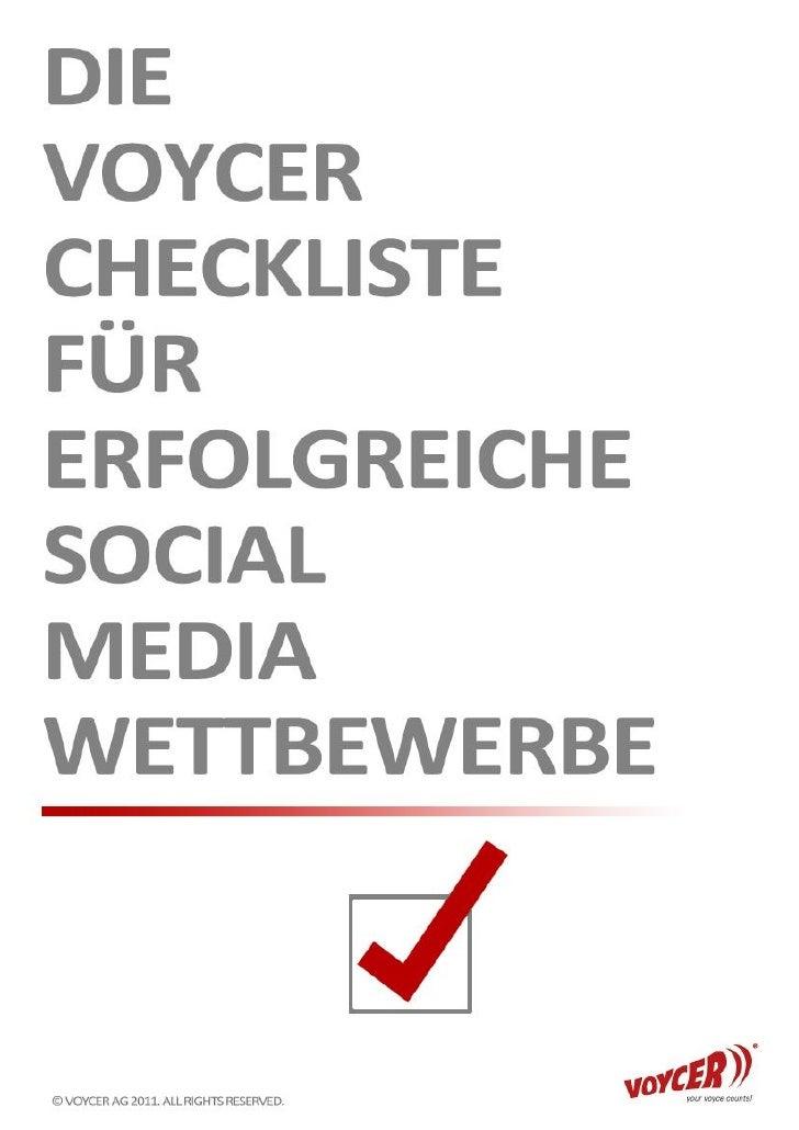 Die Voycer Checkliste für erfolgreiche Social Media Wettbewerbe