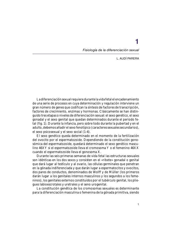 1                                      Fisiología de la diferenciación sexual                                             ...